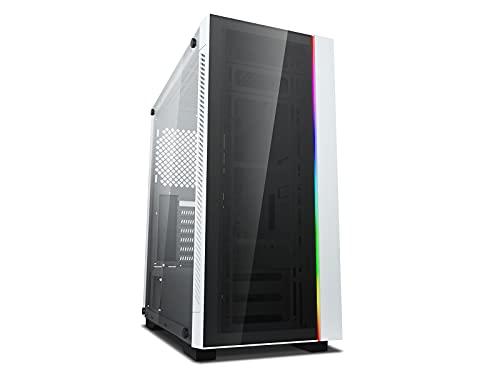 DEEP COOL MATREXX 55 V3 Add-RGB Blanco, E-ATX Caja de Ordenador para PC, Flujo de Aire Optimizado, Red Magnética a Prueba de Polvo