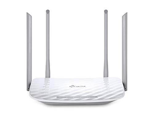 TP-Link Archer C50 - Router wifi de doble banda, 1200 Mbps, 2.4 GHz a 300 Mbps y 5 GHz a 867 Mbps, 4 antenas externas de doble banda, Fast Ethernet, puerto de 100 Mbps, blanco