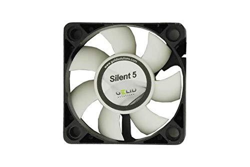 GELID SOLUTIONS Silent 5 de 3 Pines   Ventilador de 50mm para Cajas de pc estándar   Operación silenciosa   Aspas del Ventilador optimizadas