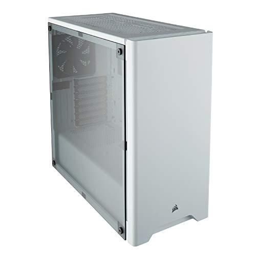 Corsair Carbide Series 275R Estuche para juegos de media torre (panel lateral de ventana de acrílico completo, opciones de refrigeración versátiles) blanco