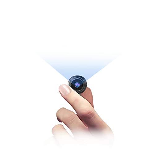 MHDYT Mini Camara Espia Oculta, 1080P HD Micro Camara Vigilancia Grabadora de Video Portátil con IR Visión Nocturna Detector de Movimiento, Camara Seguridad Pequeña Interior/Exterior para Coche,Perros