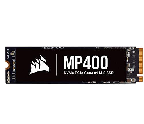 Corsair MP400 4TB Gen3 PCIe x4 NVMe M.2 SSD (Velocidades de Lectura Secuencial de hasta 3.400 MB/s y de Escritura Secuencial de 3.000 MB/s, 3D QLC NAND de Alta Densidad) Negro