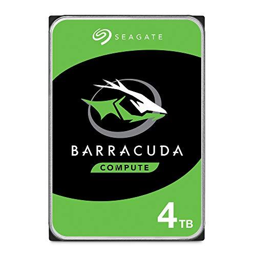 Seagate BarraCuda, 4 TB, Disco duro interno, HDD, 3,5', SATA 6 GB/s, 5400 RPM, caché de 256 MB para ordenador de sobremesa y PC, Paquete Abre-fácil (ST4000DMZ04)