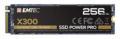 Emtec X300 M.2 SSD Power Pro 256 GB M.2 2280 NVMe PCIe Gen 3.0 x4