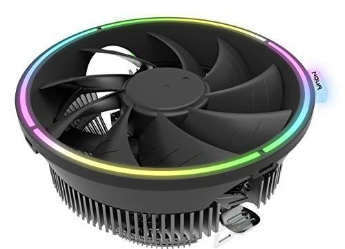 Noua Pulse RGB Rainbow Disipador de calor 80 W para CPU Intel Socket 1200 775 1150 1151 1155 1156 1366 AMD AM3 AM4 Cooler Cooling Fan 1800 RPM de 120 mm Halo Rainbow fijo para Intel Core i7/i5/i3