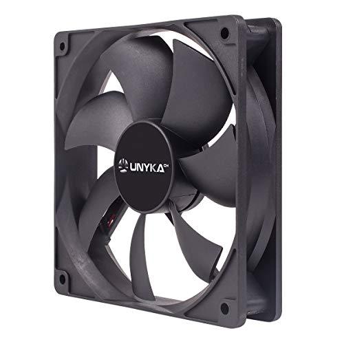 UNYKAch Ventilador Auxiliar 120mm Black Incluye P4 con Control de Temperatura, 51800