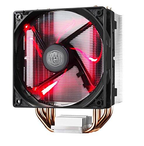 Cooler Master Hyper 212 LED Sistema Refrigeración Resistente y Versátil, 4 Tubos de Calor Contacto Directo Continuo con Aletas, Ventilador PWM de 120 mm