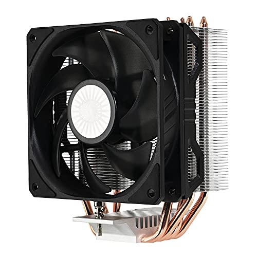 Cooler Master Hyper 212 EVO V2 Disipador de CPU: Mejor Rendimiento, Características Mejoradas: Heat Sink Asimétrico, 4 Heat Pipes Contacto Directo, Ventilador SickleFlow V2 120mm, Socket Universal