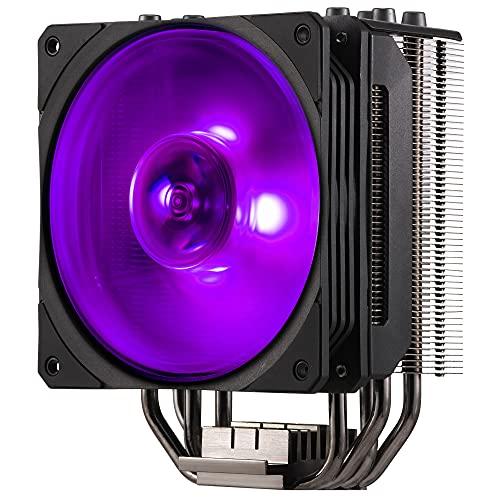 Cooler Master Hyper 212 RGB Black Edition Sistema Refrigeración, Elegante, Llamativo y Preciso, 4 Tubos de Calor Contacto Directo Continuo con Aletas, Ventilador SF120R RGB