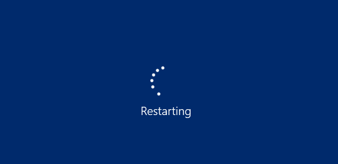 pantalla restarting windows
