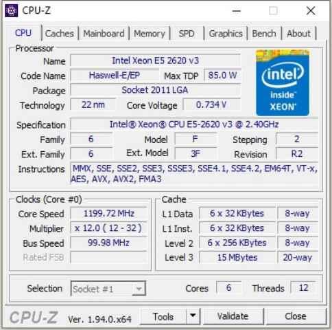 stress test de la CPU con CPUID CPU-Z
