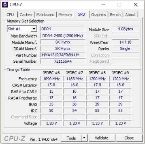 cpu-z pantalla spd stress test de la CPU