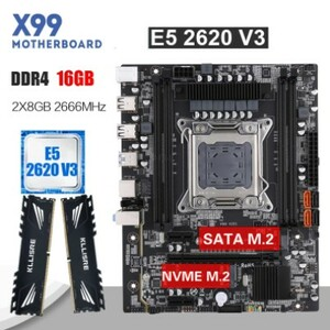 combo kllisre x99z XEON 2620v3 16GB