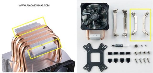 montaje aletas ventilador cooler master h211r