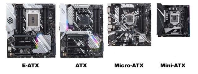 PLACAS E-ATX, ATX y M-ATX
