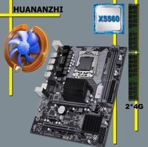 combo huananzhi xeon x58 lga1366 x5650 8gb (2x4) con ventilador cpu