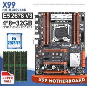 combo jingsha x99 8d3 XEON 2678v3 32Gb (4x8)