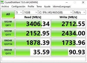 crystal disk 7 test nvme western digital sn750