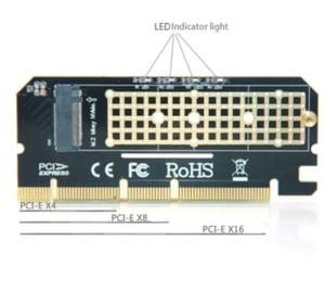 tarjeta pci 3.0 adaptador unidad nvme x4 x8 x16