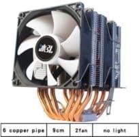 2 ventiladores 6 tubos de calor rgb 900mm