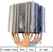 ventilador cpu 6 tubos de calor rgb 900mm