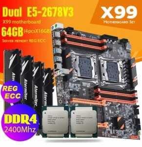 placa base atermiter zx x99 dual combo 2678v3 64GB (4x16)