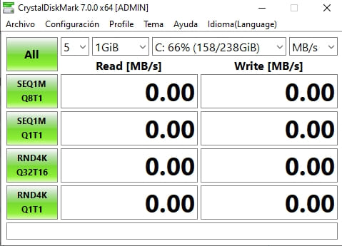 crystal disk mark velocidad
