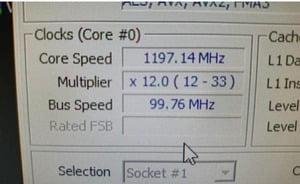 bus speed MHz