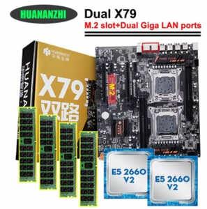 placa base huananzhi 4d x79 dual combo 2660v2 32GB (4x8)