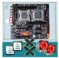 placa base huananzhi 4d x79 dual combo 2690 64 GB (4x16) con ventiladores