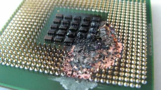 reverso procesador intel quemado