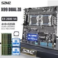 placa base szmz z8 x99 dual combo 2680v4 32GB (4x8)