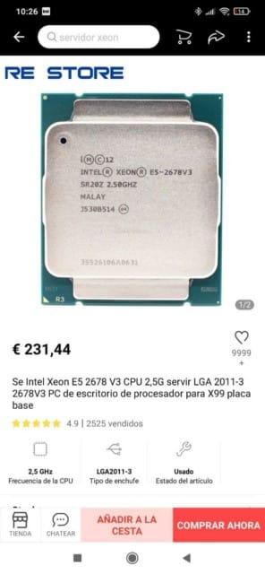 xeon e5 2678v3 en re_store aliexpress con subida de precio