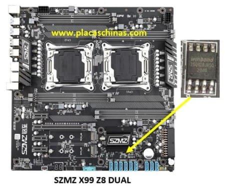BIOS winbond 25q128fvsg en placa szmz z8 x99