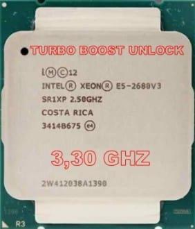 XEON E5-2680V3 TURBO BOOST UNLOCK 3,30 GHZ