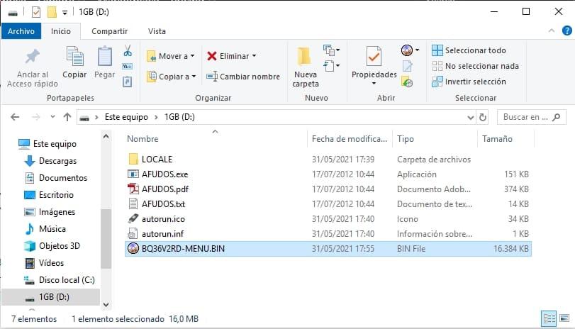 explorador archivos contendio afudos y freedos y archivo BIOS