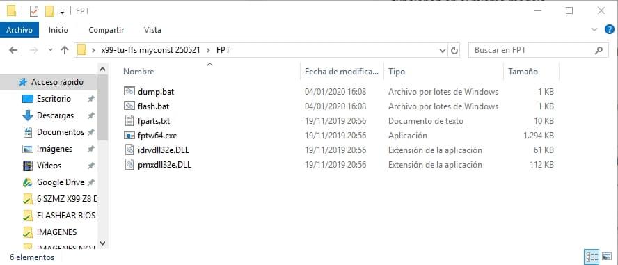 explorar de archivos FPT BIOS sin rom