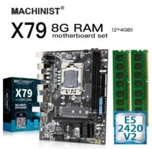 machinist lga 1356 chipset x79 xeon e5 2420v2 8GB (2x4)