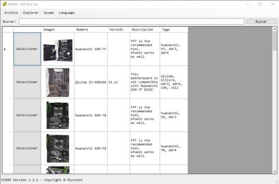 modelos de placa base x99 para flashear bios con mi899