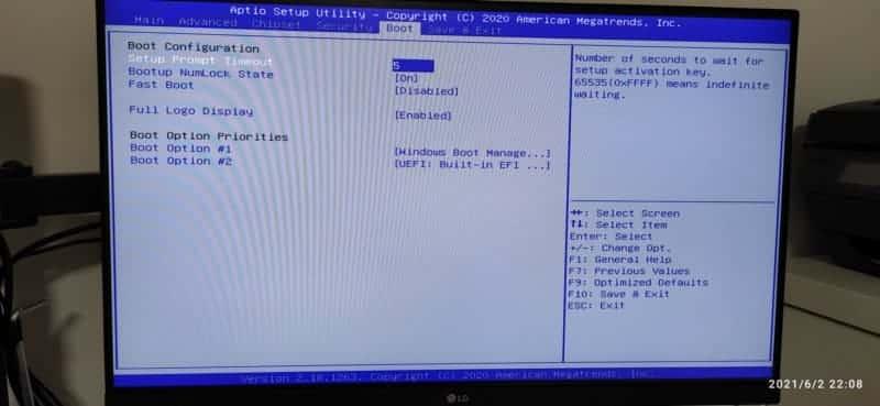 pantalla bios pestaña boot mod szmz z8