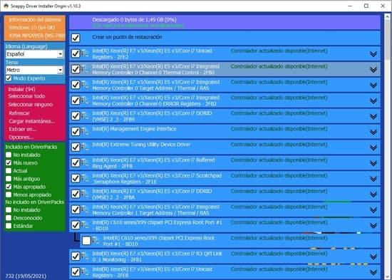 paso 6 archivos que se han seleccionado en SDIO para instalar