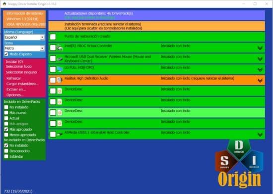 paso 8 reiniciar para instalar controladores y drivers SDIO