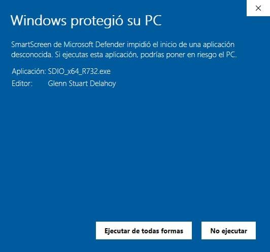 windows protegio su pc ejecutar software no certificado