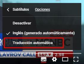 subtitulos de youtube traduccion automatica