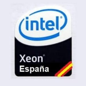 logo intel xeon españa con bandera española