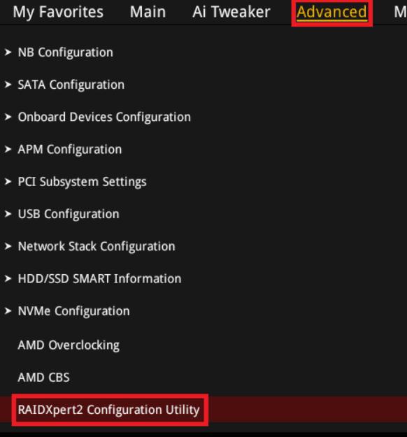 advanced raidxpert2 configuration utillty asus-amd