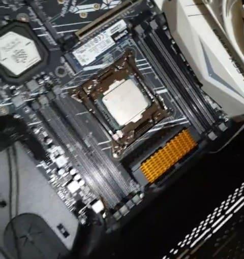 colocacion de disipador m.2 en vrm motherboard x99
