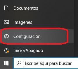 paso 1 boton windows y configuracion