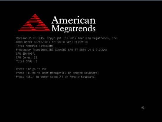 post arranque bios americam megatrends