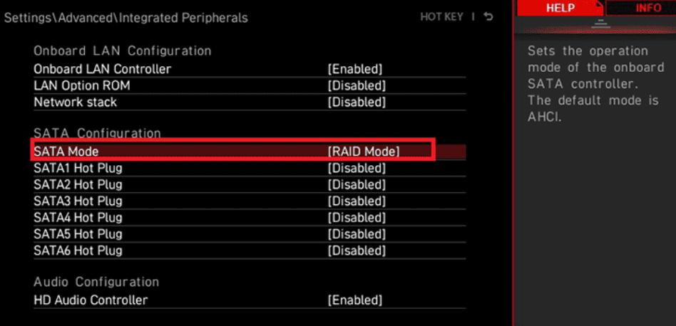 sata mode raid mode msi-amd